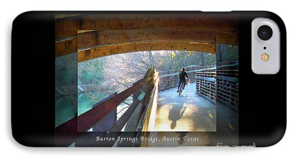 Birds Boaters And Bridges Of Barton Springs - Bridges One Greeting Card Poster V2 IPhone Case