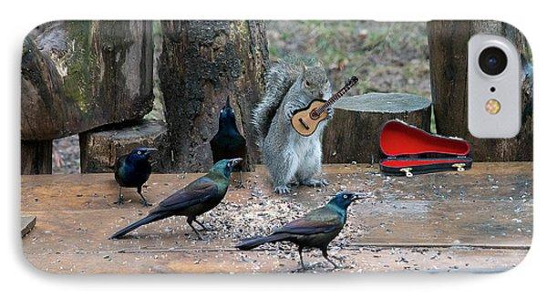 Birds Enjoying The Music IPhone Case by Dan Friend
