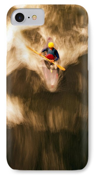 Birds-eye View Of Kayaker IPhone Case by Panoramic Images