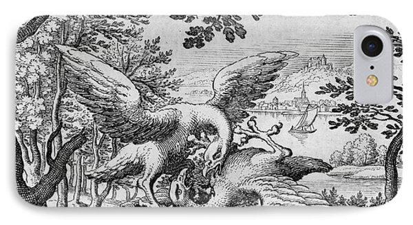 Birds Fighting From Musaeum Hermeticum, 1678 IPhone Case by German School