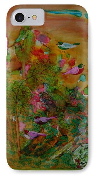 Birds In Exotic Landscape # 57 IPhone Case