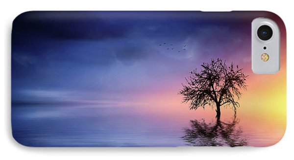 Birds In The Trees, Some Are Fleeing IPhone Case by Bess Hamiti