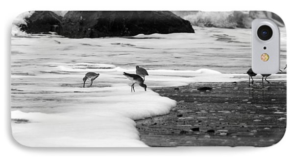 Birds In The Waves Black And White IPhone Case