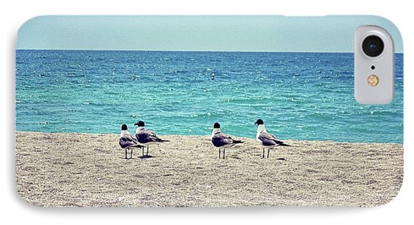 Birds On A Beach IPhone Case by Chris Andruskiewicz