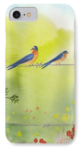 Birds On A Wire Barn Swallows IPhone Case