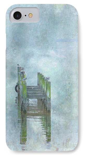 IPhone Case featuring the digital art Birds On Abandoned Dock by Randy Steele