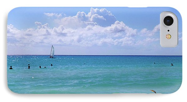 IPhone Case featuring the photograph Birds On The Beach M4 by Francesca Mackenney