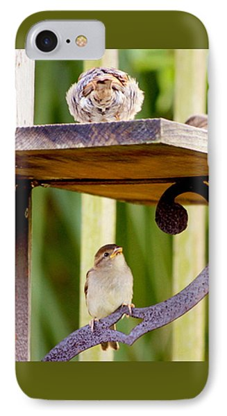Birds On The Feeder IPhone Case