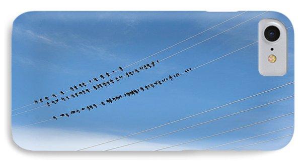 Birds On Wires IPhone Case