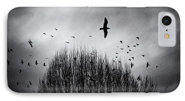 Birds Over Bush IPhone Case by Peter v Quenter