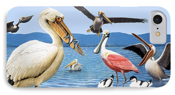 Birds With Strange Beaks IPhone Case by R B Davis