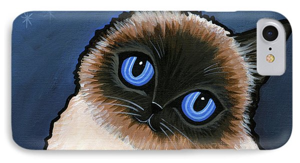 Birman Blue Night Phone Case by Leanne Wilkes