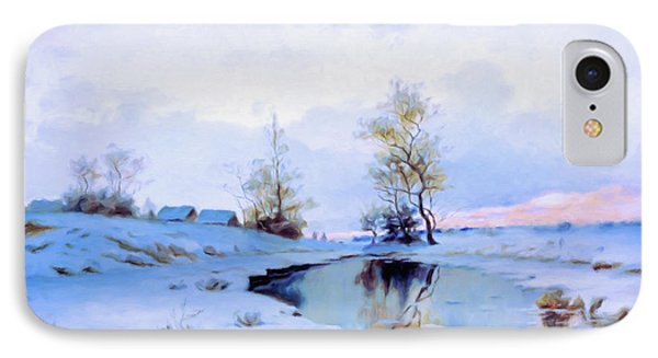 Birth Of Spring In The Snow IPhone Case