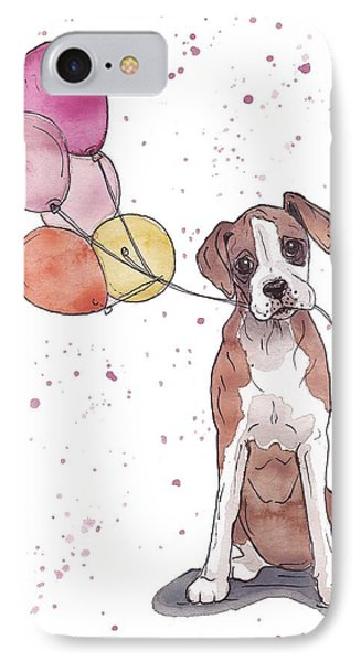 Birthday Boxer IPhone Case by Katrina Davis