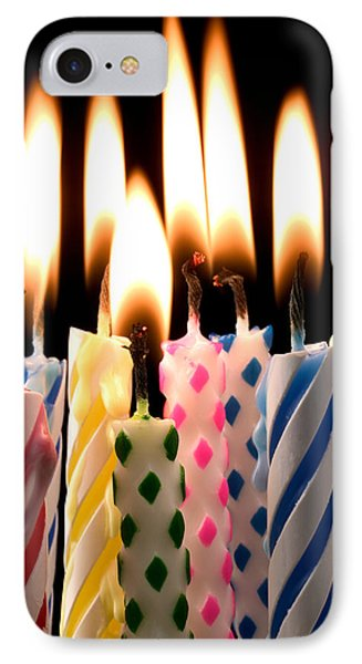 Birthday Candles IPhone Case by Garry Gay