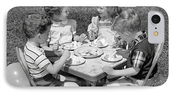 Birthday Party On The Lawn, C.1950s IPhone Case by H. Armstrong Roberts/ClassicStock