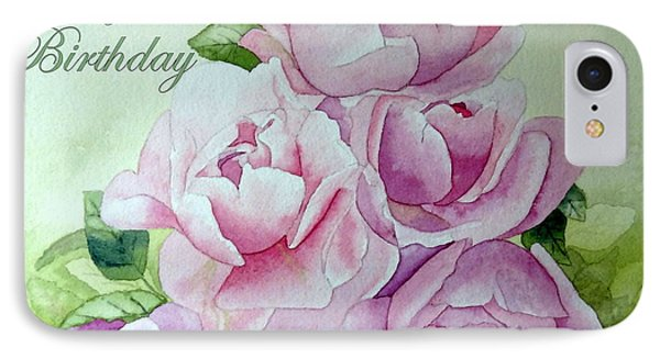 IPhone Case featuring the painting Birthday Peonies by Laurel Best