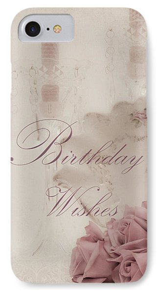 Birthday Wishes - Candles, Crystal And Roses Phone Case by Sandra Foster