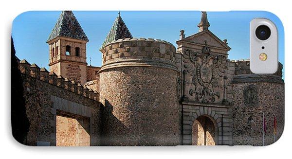 Bisagra Gate Toledo Spain Phone Case by Joan Carroll