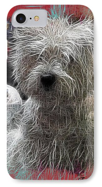IPhone Case featuring the photograph Bishon Frise by EricaMaxine  Price
