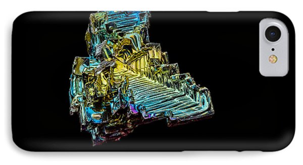 IPhone Case featuring the photograph Bismuth Crystal by Rikk Flohr