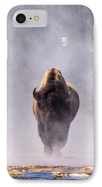 Bison At Biscuit Basin IPhone Case