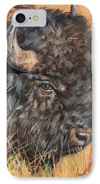Bison IPhone Case by David Stribbling