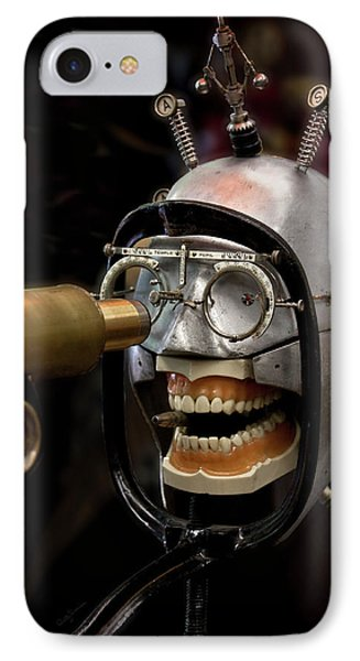 Bite The Bullet - Steampunk IPhone Case by Betty Denise