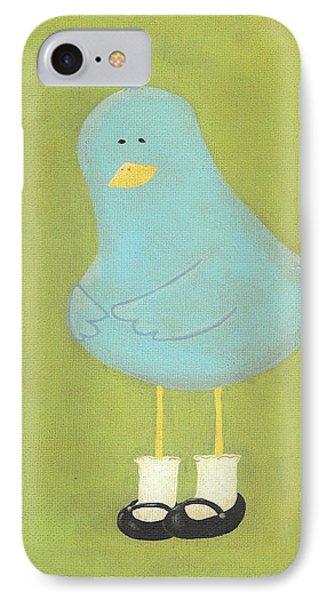 Bitty Bird's New Shoes Nursery Art Phone Case by Katie Carlsruh