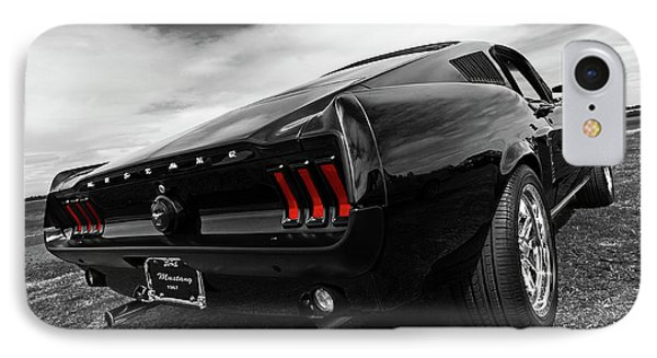 Black 1967 Mustang IPhone Case