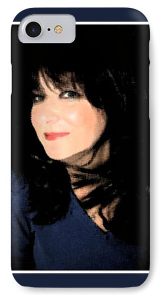 IPhone Case featuring the photograph Black And Blue by Ellen Barron O'Reilly