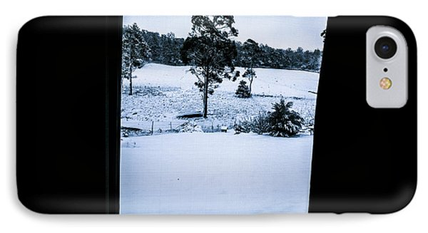 Black And Blue Snow Landscape IPhone Case by Jorgo Photography - Wall Art Gallery
