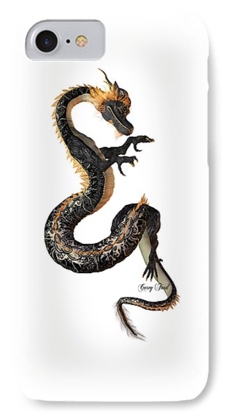 Black And Gold Dragon IPhone Case