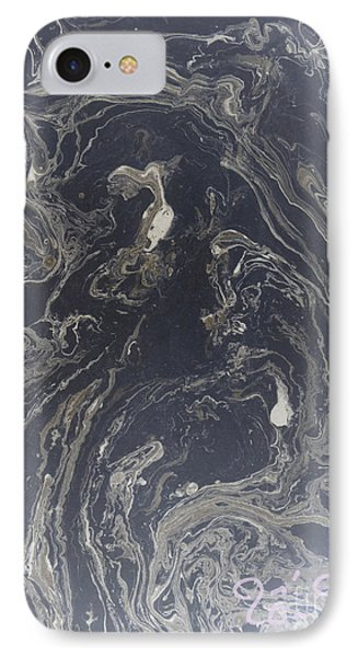 Black And Grey Abstract IPhone Case by To-Tam Gerwe