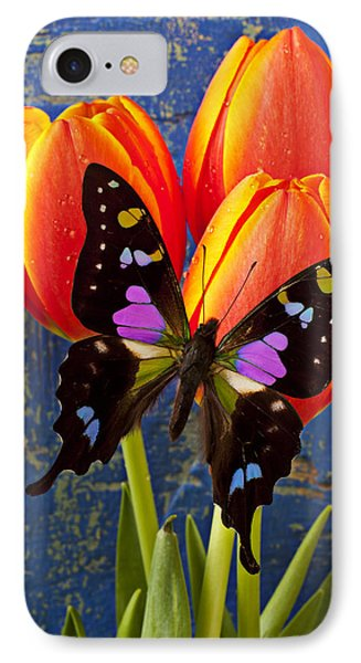 Black And Pink Butterfly Phone Case by Garry Gay