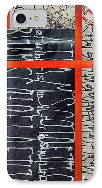 IPhone Case featuring the painting Black And Red 7 by Nancy Merkle