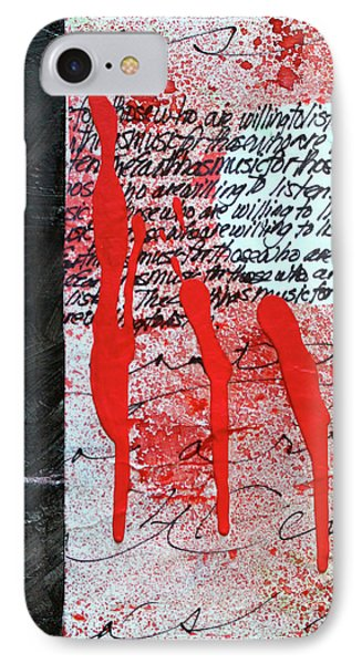 IPhone Case featuring the painting Black And Red 8 by Nancy Merkle