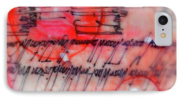 IPhone Case featuring the painting Black And Red Encaustic 3 by Nancy Merkle