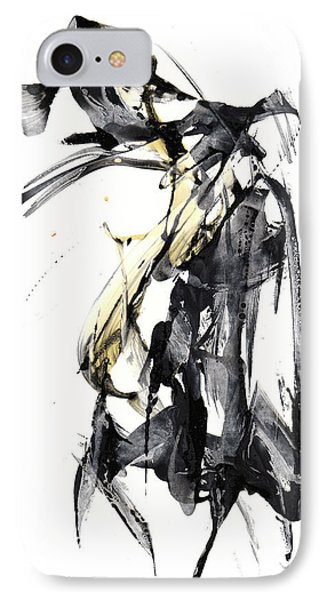 Black And White Abstract Expressionism Series 7344.072009 IPhone Case