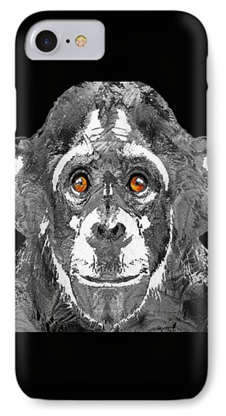 Black And White Art - Monkey Business 2 - By Sharon Cummings IPhone 7 Case by Sharon Cummings