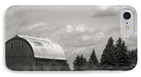 Black And White Barn IPhone Case by Joann Copeland-Paul