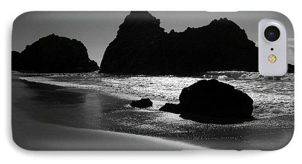 Black And White Big Sur Landscape Phone Case by Pierre Leclerc Photography