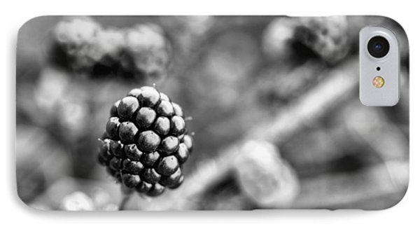 Black And White Blackberry IPhone Case by JC Findley