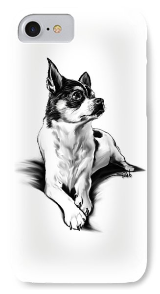 Black And White Chihuahua By Spano IPhone Case