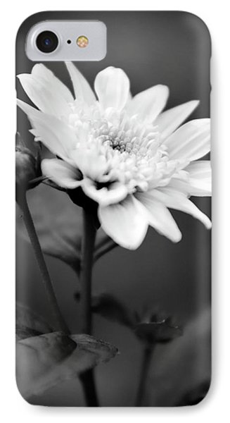 IPhone Case featuring the photograph Black And White Coreopsis Flower by Christina Rollo