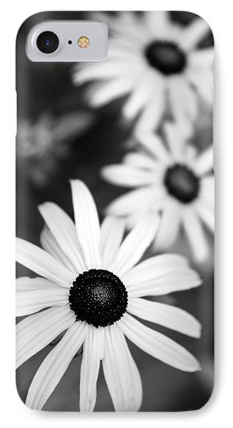 IPhone Case featuring the photograph Black And White Daisies by Christina Rollo