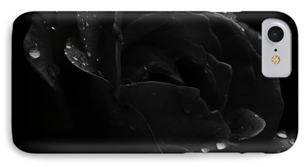 Black And White Flower Fifteen IPhone Case