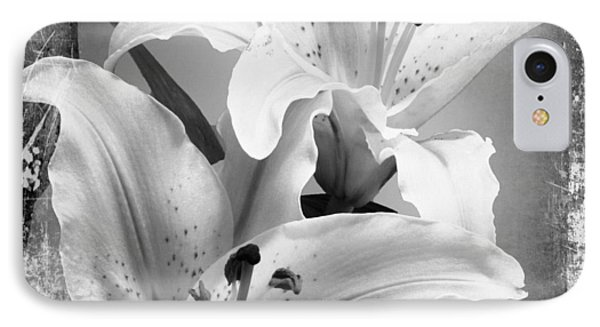 Black And White Grunge Lilies IPhone Case