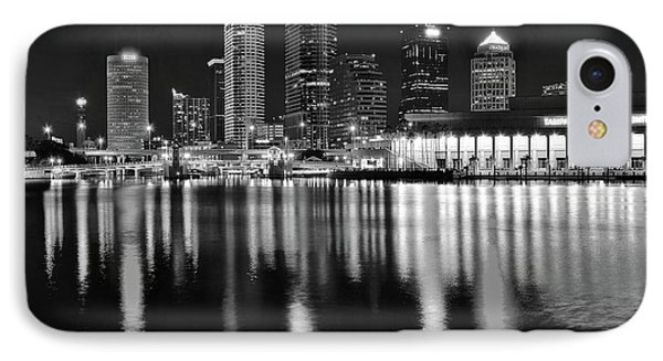 Black And White Harbor In Tampa Bay IPhone Case