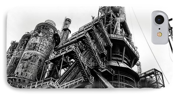 Black And White Industrial - Bethlehem Steel IPhone Case by Bill Cannon